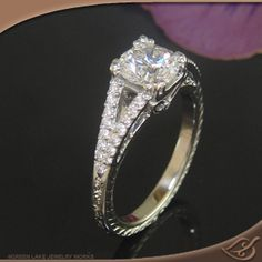 Get a good look at this ring. Detail  perfection. This is my absolute favorite!
