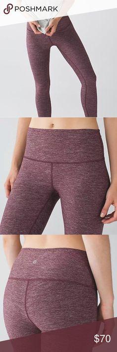 5f7e7efe678a5f Lululemon High Times Pant size 8 Maroon Leggings Lululemon High Times Pant  size 8 Heathered Bordeaux