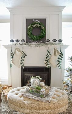 Home by Heidi: Christmas 2014 Mantle & Banister