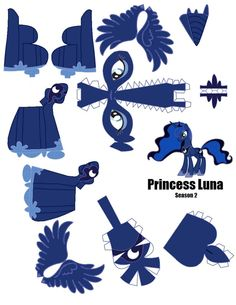 Princess Luna Papercraft Template (pg by Flip-coB on DeviantArt My Little Pony Party, My Little Pony Craft, Paper Toys, Paper Crafts, Barbie Paper Dolls, Snow Flakes Diy, Little Poney, My Little Pony Friendship, Paper Models