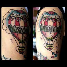 ramonabi_ #balloontattoo #anchortattoo #mongolfieratattoo #traditionaltattoo…