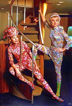 1969 ... stewardess fashions - Braniff | James Vaughan | Flickr