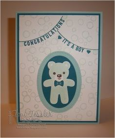 Toni Tessler (tonistamps) Independent Stampin Up Demonstrator. Sale-a-Bration 2017. Any Occasion.  Christmas Cookie Cutter.  Baby card.
