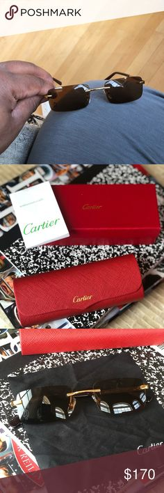 cf323695197 Cartier sunglasses Cartier shades with og boxes and info book Cartier  Accessories Glasses Cartier Sunglasses