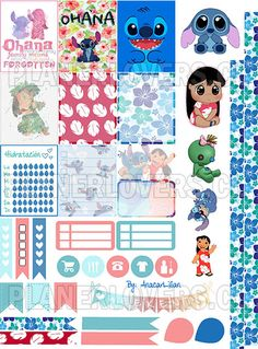 Liloandstitch - Stickers Imprimibles by AnacarLilian on DeviantArt Free Planner, Happy Planner, Planner Ideas, Planner Layout, Gratis Sticker, Lilo Og Stitch, Disney Planner, Printable Planner Stickers, Disney Scrapbook