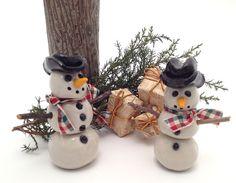 A pair of little Snowmen. $30.00, via Etsy.