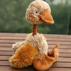 Lovely Bird Duck Funny Pet Dog Pet Puppy Squeaky Plush Toys Sound For Pet Play -- BuyinCoins.com
