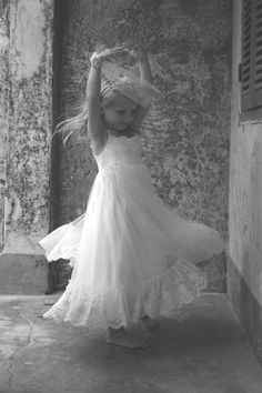 Bohemian Luxe Indiana flower girl dress