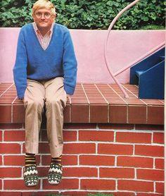 David Hockney Portraits, David Hockney Paintings, David Hockney Artist, Pop Art Movement, Slim Aarons, Aesthetic Images, Artist Life, Brian Froud, Famous Artists