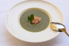 spinach soup with tuna