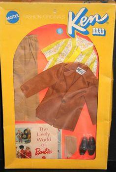 1972 Ken Fashion Originals Brown on Brown 1718 Barbie Mod Era | eBay