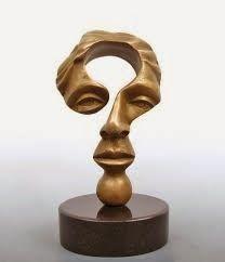 'Questioning Mind' by Michael Alfono (Faux Bronze Resin Sculpture) Art Sculpture, Abstract Sculpture, Sculpture Ideas, Instalation Art, Oeuvre D'art, Wood Carving, Ceramic Art, Wood Art, Sculpting