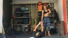 Playing with pops and trying to contain my laughter. Check out @superdaveyoga 's YouTube tutorial on pops, link in my bio. #acroyoga #acroyogatoronto #acrobatics #gymnastics #circus #playlikeakid #pursuitocr #pops #nuvangostyle #nuvangoactive