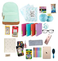 """""""What's in my backpack 2"""" by alana-parker2003 on Polyvore featuring interior, interiors, interior design, home, home decor, interior decorating, Volcom, Sugar Paper, WMF and BIC"""