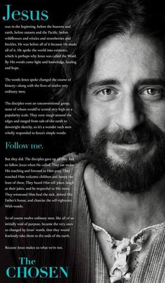 The Chosen - Rotten Tomatoes Christian Movies, Christian Quotes, Christian Art, Jesus Lives, Jesus Christ, Jesus Smiling, Bible Quotes, Bible Verses, Choose Quotes