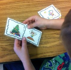 seasons pictures and words matching game FREEBIE; great for a fun math centre to reinforce learning about the seasons