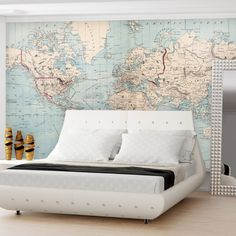 Found it at AllModern - Map of The World Wall Mural