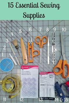 15 Essential Sewing Supplies | www.donnaberlanda.com | 15 tools that you will need to get you started in sewing