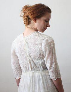 20s dress, cotton.