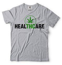 THC T-Shirt Weed Cannabis Medical Marijuana Tee Shirt Medium Black
