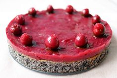 Višňovo-maková torta bez múky Raw Food Recipes, Healthy Recipes, Poppy Cake, Healthy Cake, Main Dishes, Cheesecake, Food And Drink, Low Carb, Paleo