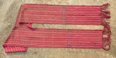 Vintage faja/ sash from Guatemala, possibly Solola. Hand woven on a back strap loom in one panel of mainly red cotton with stripes in lavender, green and blue. Art Articles, Native American Art, Sash, Hand Weaving, Textiles, Vintage, Girdles, Hand Knitting, Vintage Comics