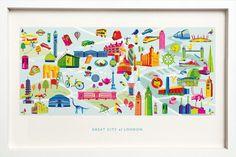 London Map, London City, A4, Store, Larger, Shop