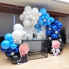 Boss Birthday, Baby Boy 1st Birthday Party, Baby Party, Baby Shower Parties, Baby Boy Shower, Shark Party Decorations, Birthday Party Decorations, Baby Shower Decorations, Diaper Parties