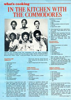 Cookin' with The Commodores