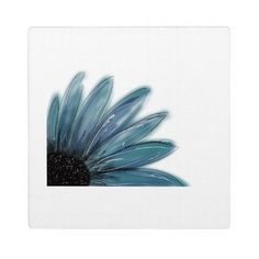 Plaque with Easel, Blue Sunflower Design