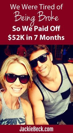 Chris & Andrea went from living paycheck to paycheck to debt free! Check out exactly how they paid off $52K in 7 months.