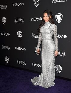 Naya Rivera attends the InStyle And Warner Bros. Golden Globes Party — 2015
