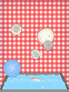 Washing the dishes in Toca Tea Party by Toca Boca. http://itunes.apple.com/us/app/toca-tea-party/id424174500?mt=8&ls=1