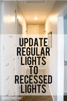 Recessed Lighting- totally want to do this to get rid of the ugly dome lights alllllll ...