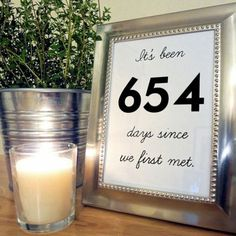 Great idea for table numbers!