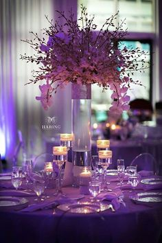 Love violet table setting