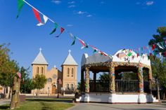A photo of the Gazebo in Mesilla, which is in the process of being re-done. We're excited to see the new design!