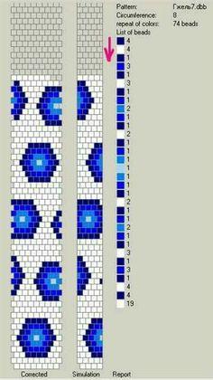 8 around bead crochet rope pattern Crochet Beaded Bracelets, Beaded Bracelet Patterns, Bead Loom Bracelets, Jewelry Patterns, Beaded Jewelry, Bead Crochet Patterns, Bead Crochet Rope, Loom Patterns, Beading Patterns