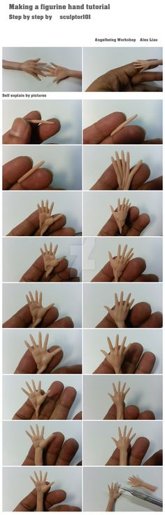 Making a figurine hand tutorial part I by sculptor101.deviantart.com on @DeviantArt