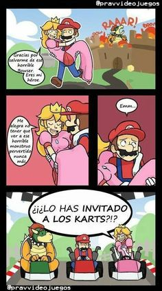 Mario spends most of his life saving the Princess from Bowser. But then Mario had a change of. Video Game Logic, Video Games Funny, Funny Games, Touko Pokemon, Pokemon 200, Pokemon Fusion, Mario Funny, Mario Comics, Cartoon Photo