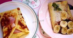 French Crepes Savory & Sweet-DIY, Κρέπες Γαλλικές Αλμυρές & Γλυκές-DIY, Συνταγές για κρέπες, Κρέπες αλμυρές και γλυκές