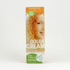 Santé Krémová barva na vlasy koňaková blond 150 ml Coconut Water, Food, Saints, Essen, Meals, Yemek, Eten