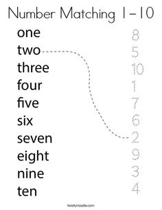 Number Matching Coloring Page – Twisty Noodle – Twisty Noodle Number Matching Coloring Page – Twisty Noodle Number Matching Coloring Page – Twisty Noodle English Activities For Kids, English Worksheets For Kindergarten, Printable Preschool Worksheets, English Lessons For Kids, First Grade Worksheets, Preschool Writing, Numbers Preschool, Preschool Learning Activities, Homeschool Kindergarten