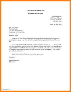 Sample Cover Letter For Bank Job Application Pdf