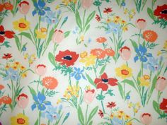 Carleton Varney designed this fresh-as-spring fabric called 'Les Fleures de Toulon,' which he says would be perfect for draperies in a dinin. Fabric Wallpaper, Cool Wallpaper, Textile Patterns, Print Patterns, Textiles, Chintz Fabric, Spring Colors, Fabric Painting, Tapestry