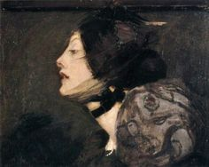 A French Girl by Bessie MacNicol, 1895.