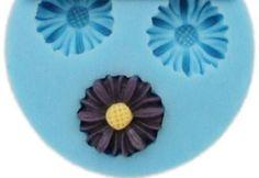 3 daisy silicone mold