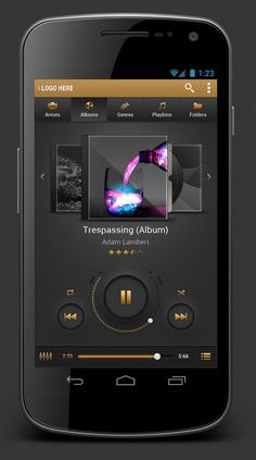 Android Music Player App User Interface Design