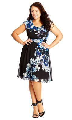Plus Size Blossom Dress - City Chic