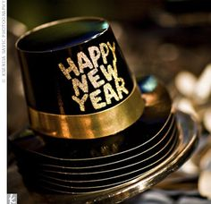 New Year's Eve Wedding Hats and Favors, have a stack for guests? New Year 2018, Happy New Year 2019, Year 2016, New Years Eve Weddings, Real Weddings, Party Like Its 1999, Auld Lang Syne, Nye Party, Party Time